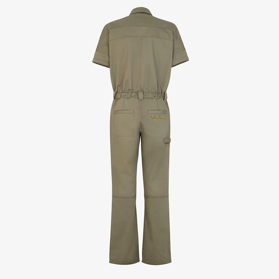 FENDI JUMPSUIT - Green cotton jumpsuit - view 2 detail