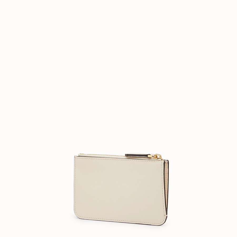 FENDI KEY RING POUCH - Beige leather pouch - view 2 detail