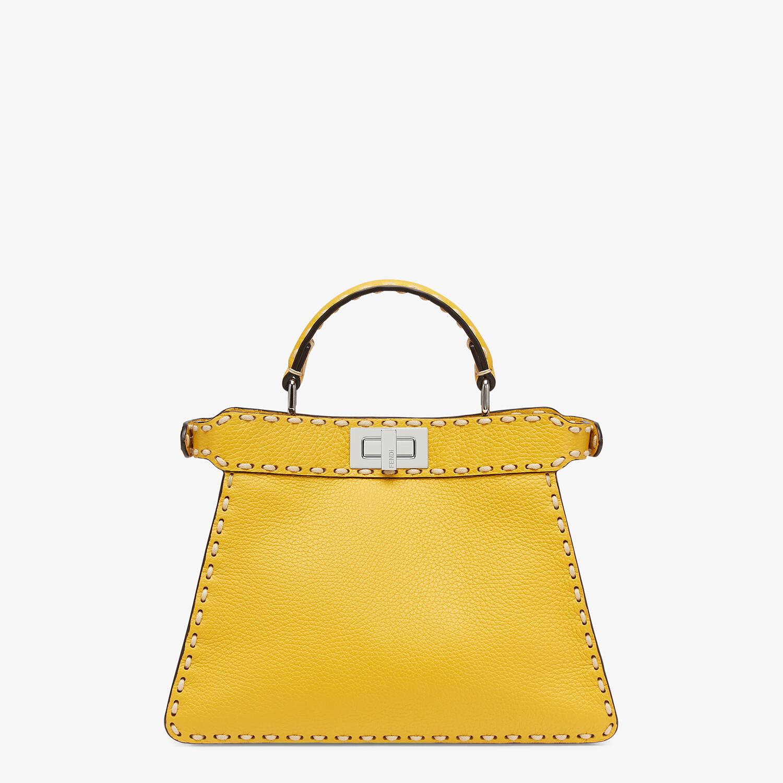FENDI PEEKABOO ISEEU SMALL - Yellow full grain leather bag - view 3 detail