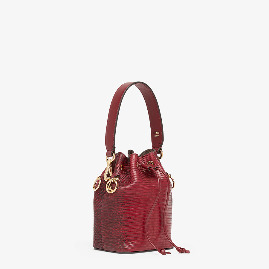 FENDI MON TRESOR - Red lizard skin mini-bag - view 2 detail