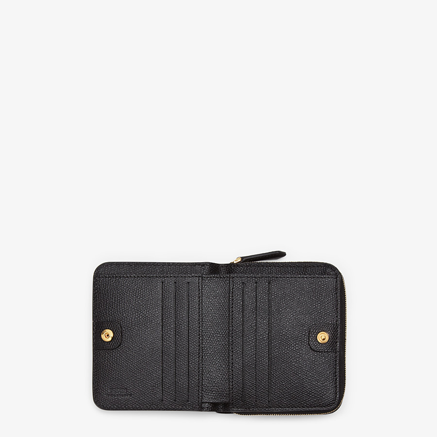 FENDI MEDIUM ZIP-AROUND - Black leather wallet - view 4 detail