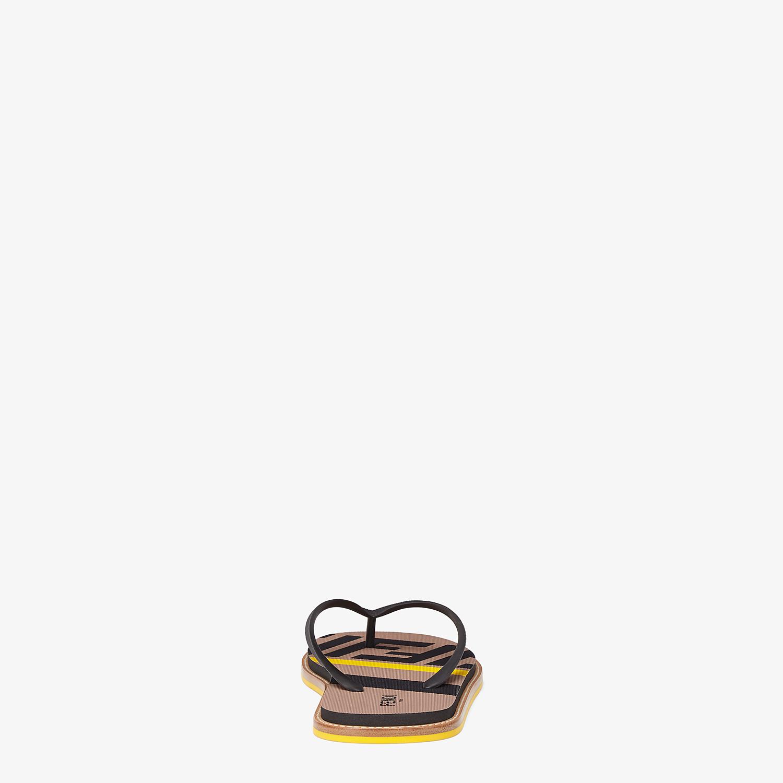FENDI SANDALS - Black rubber slides - view 3 detail