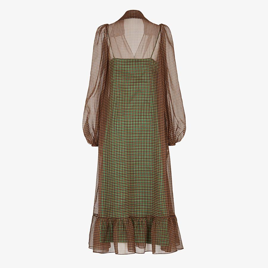 FENDI DRESS - Check organza dress - view 2 detail