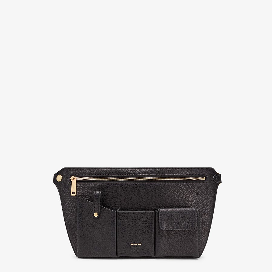 FENDI POUCH - Black leather cross-body bag - view 1 detail