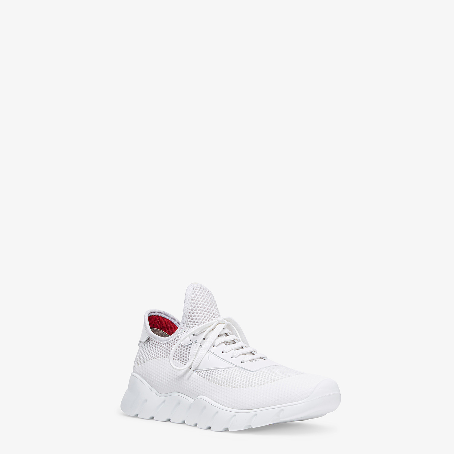 FENDI SNEAKERS - Running shoes in white tech mesh - view 2 detail