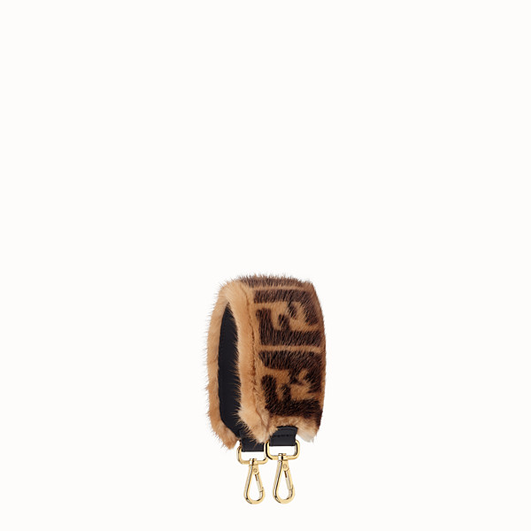 FENDI MINI STRAP YOU - Brown mink shoulder strap - view 1 small thumbnail