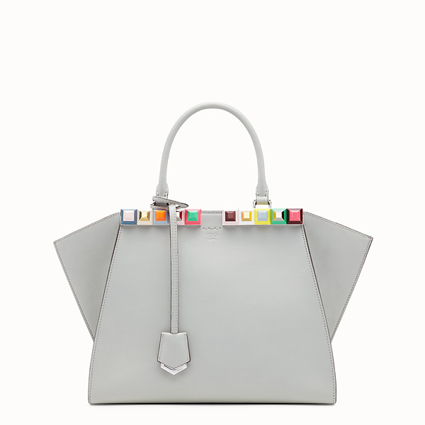 FENDI 3JOURS - Grey leather bag - view 1 small thumbnail