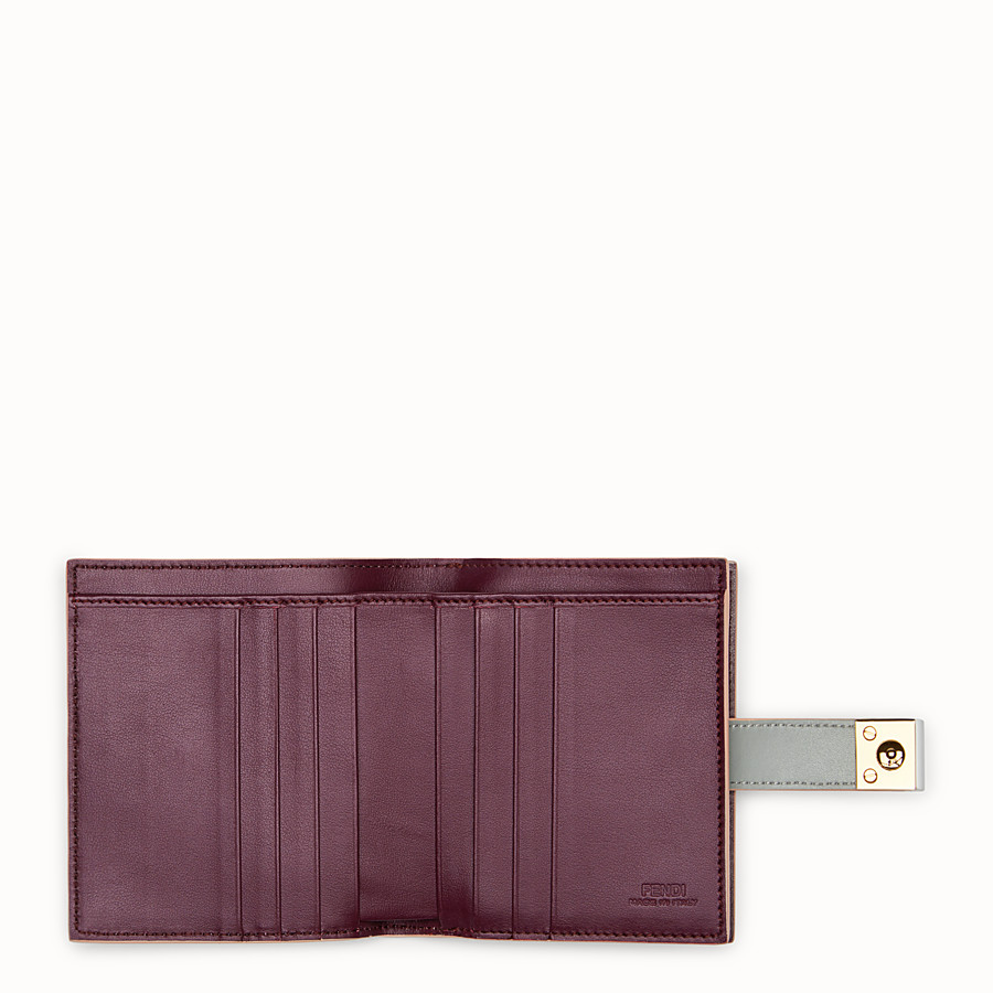 FENDI BIFOLD - Grey compact leather wallet - view 5 detail