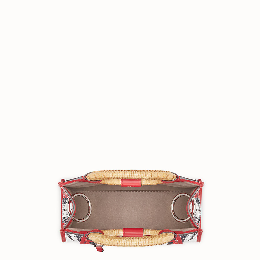 FENDI RUNAWAY SHOPPER - Multicolour braided small shopper - view 4 detail