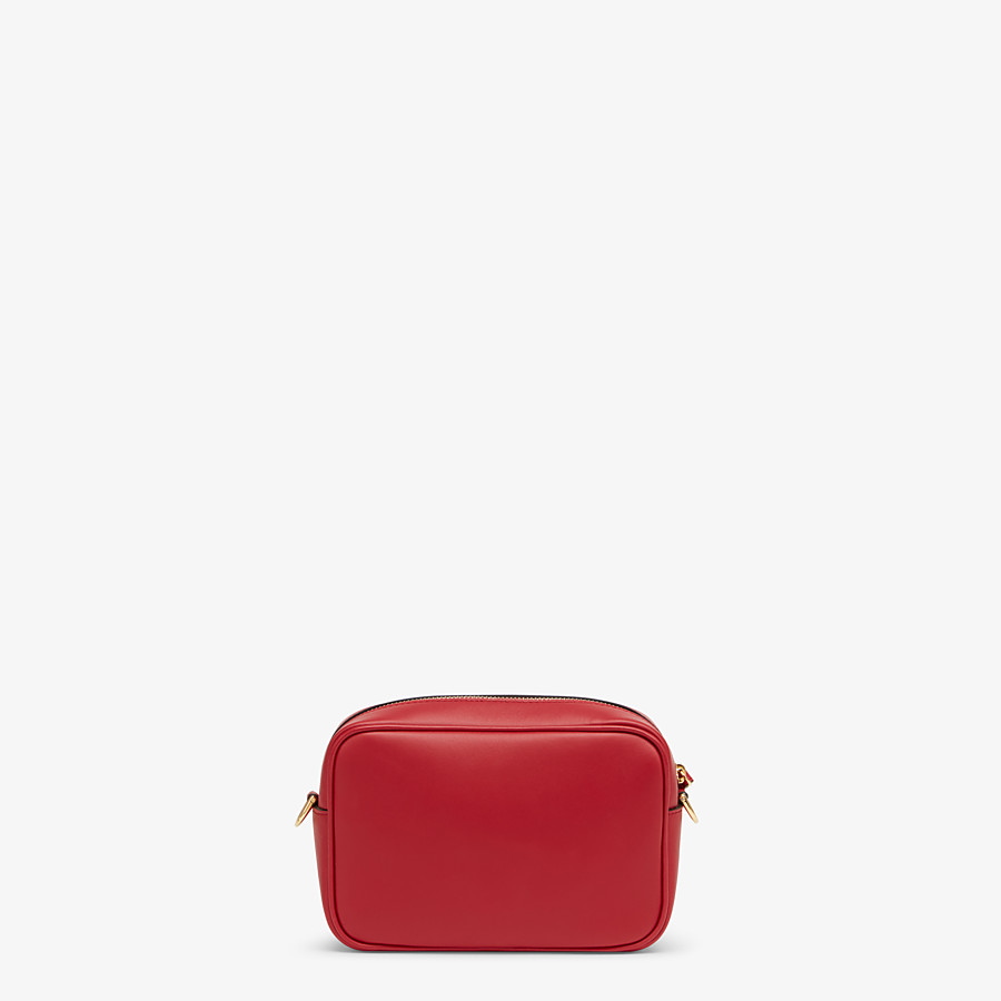 FENDI MINI CAMERA CASE - Red leather bag - view 3 detail
