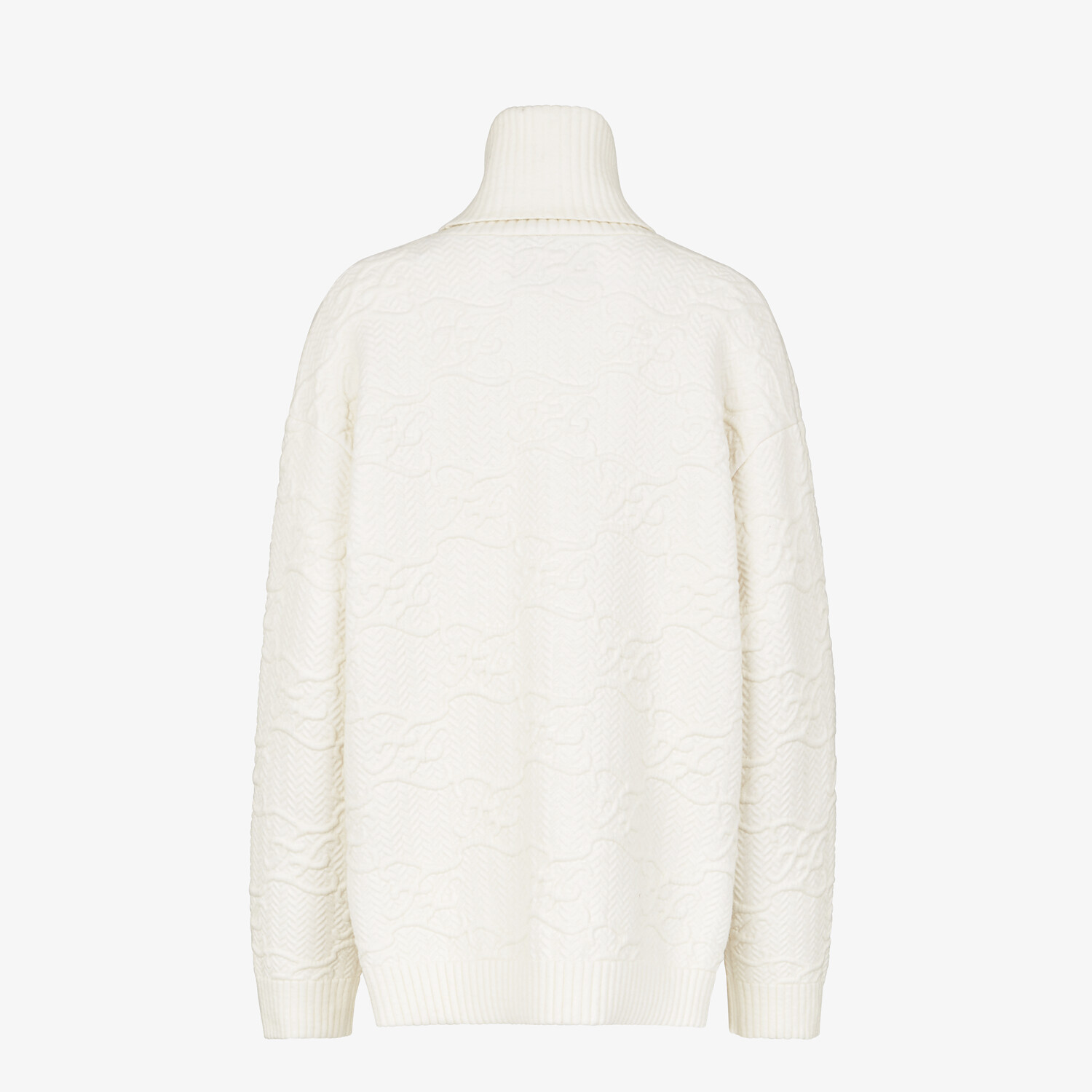 FENDI SWEATER - White wool and cashmere sweater - view 2 detail