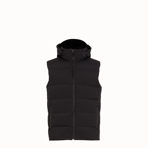FENDI GILET - Gilet in nylon nero - vista 1 thumbnail piccola