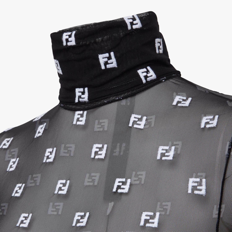 FENDI BODY - Black tulle body - view 3 detail
