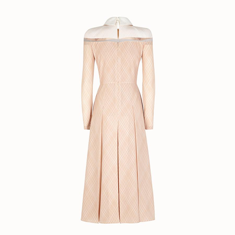 FENDI DRESS - Pink crêpe de Chine dress - view 2 detail