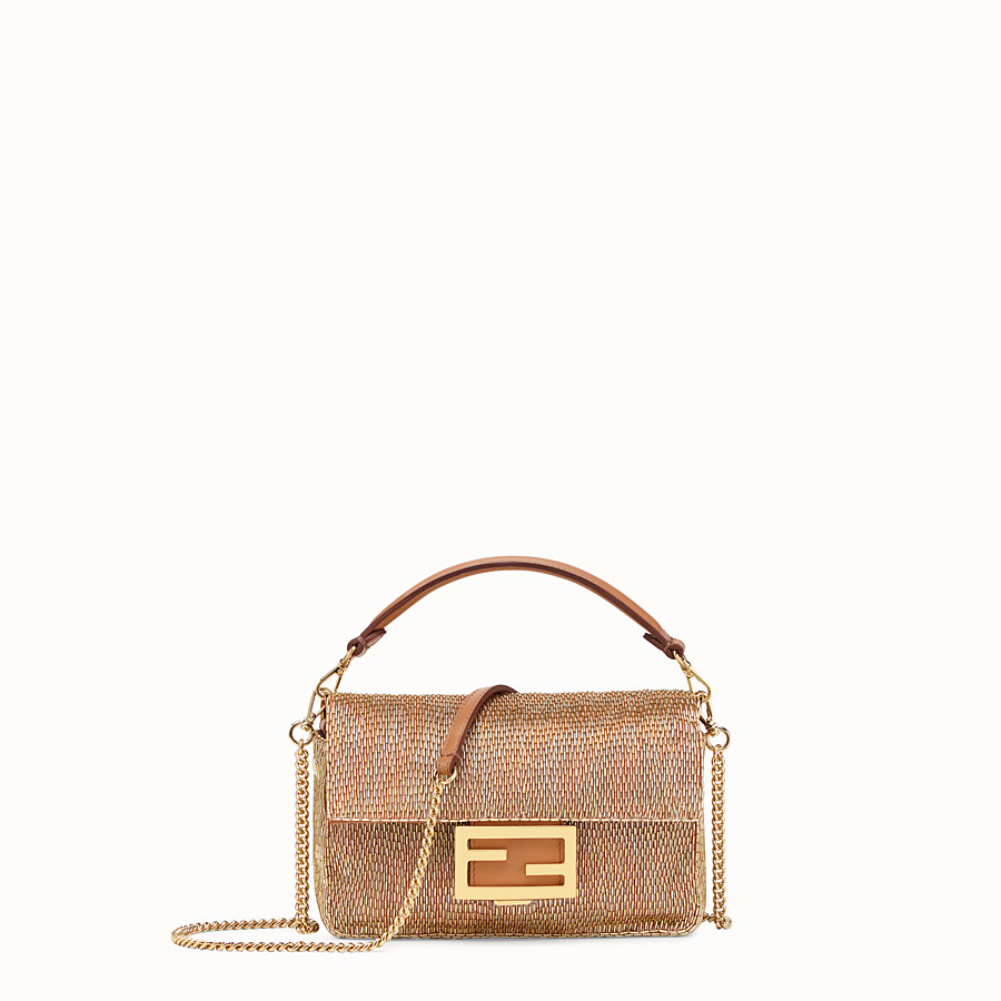 FENDI BAGUETTE - Brown leather bag - view 1 detail