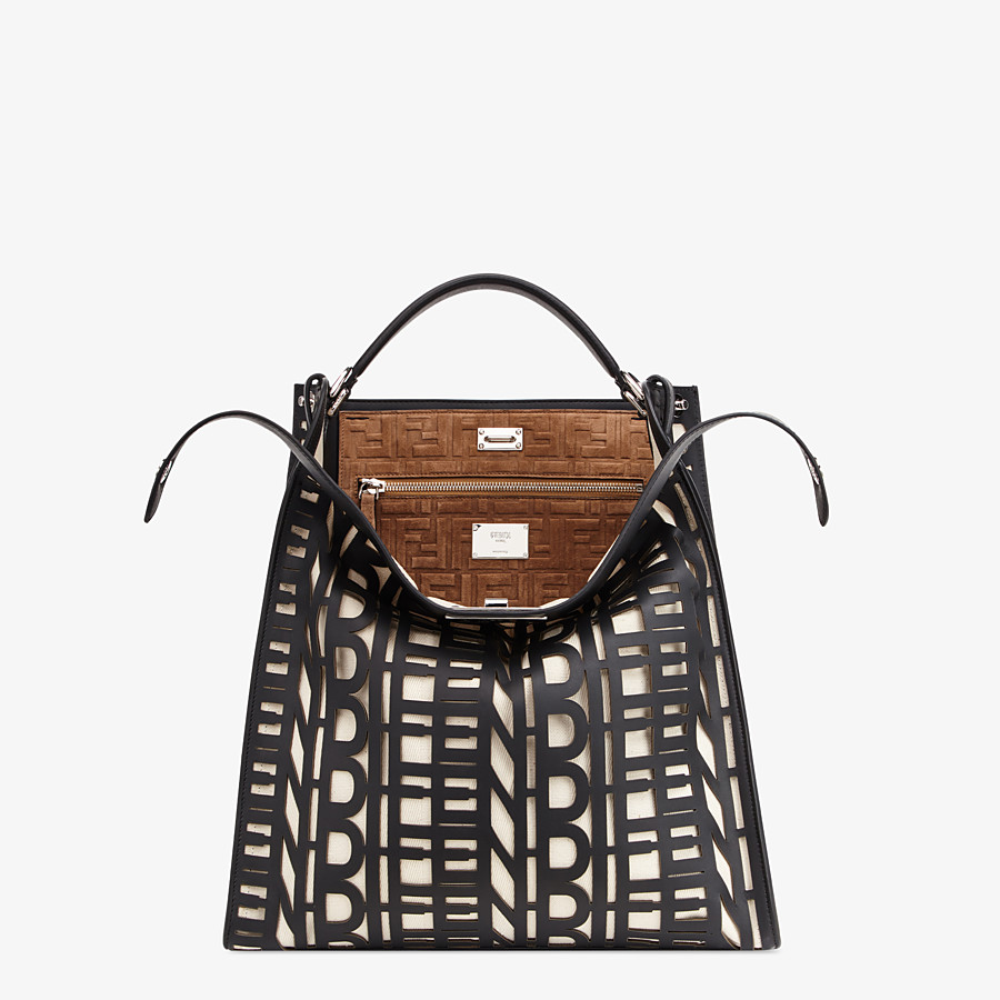 FENDI PEEKABOO X-LITE FIT - Black leather bag - view 1 detail