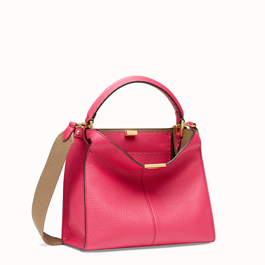 FENDI PEEKABOO X-LITE MEDIUM - Borsa Fendi Roma Amor in pelle - vista 4 dettaglio