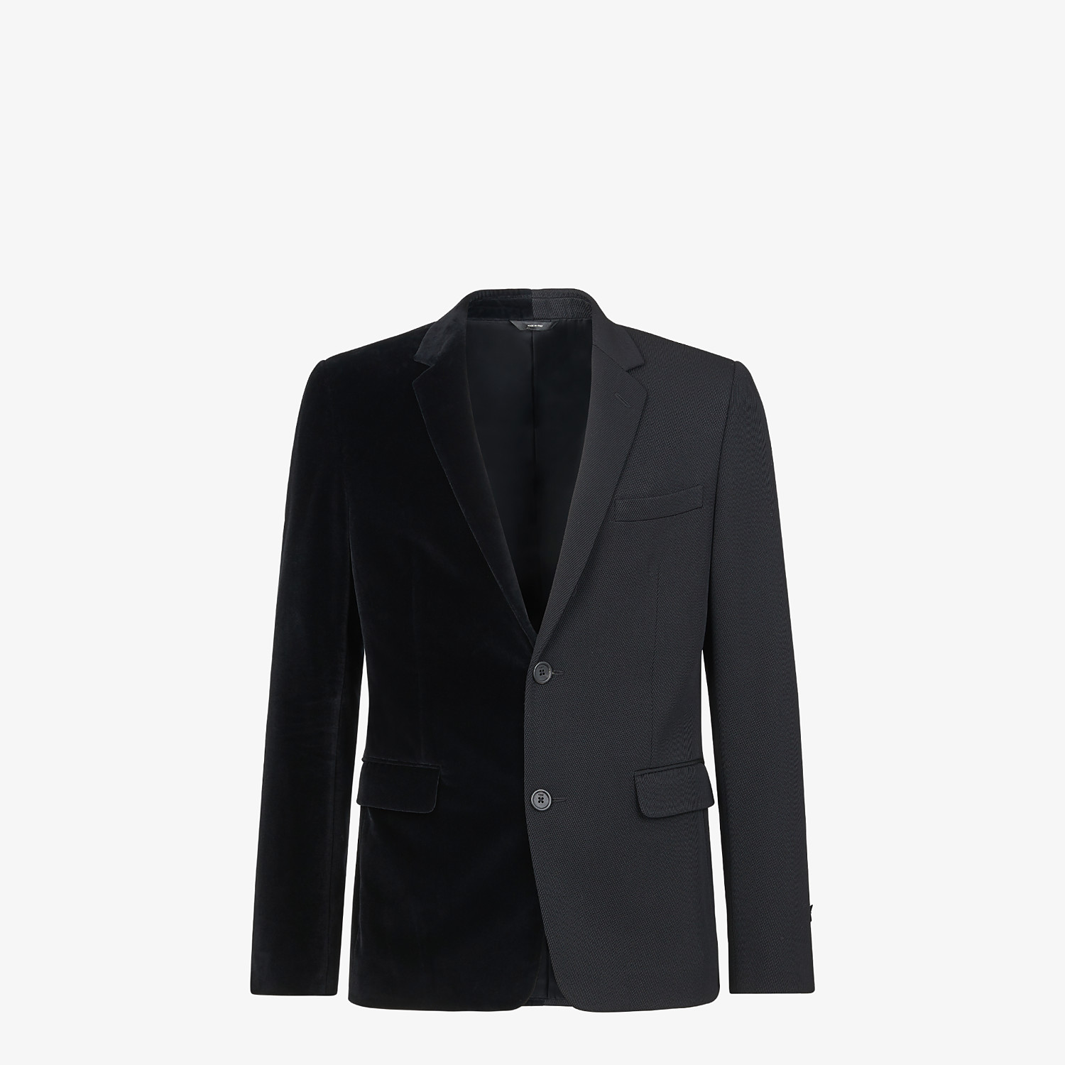 FENDI JACKET - Black velvet and wool blazer - view 1 detail