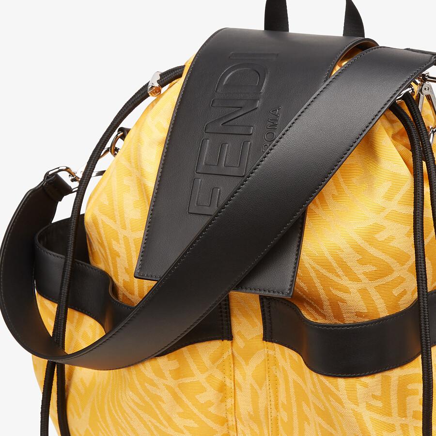 FENDI DRAWSTRING BACKPACK - Yellow FF Vertigo fabric backpack - view 4 detail