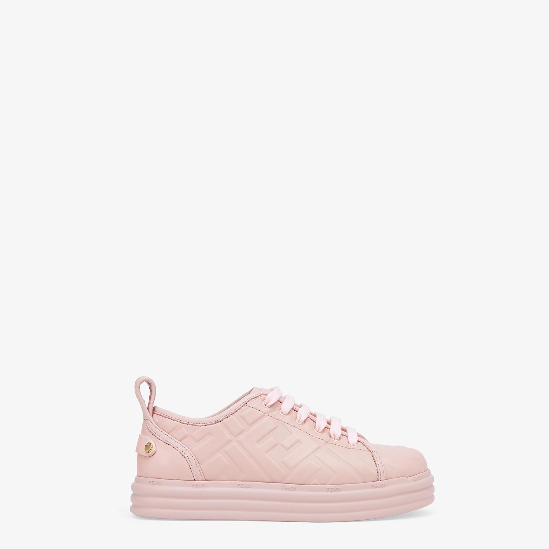 FENDI FENDI RISE - Pink leather flatforms - view 1 detail
