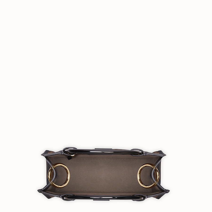 FENDI RUNAWAY SHOPPER - Shopper in brown fabric - view 5 detail
