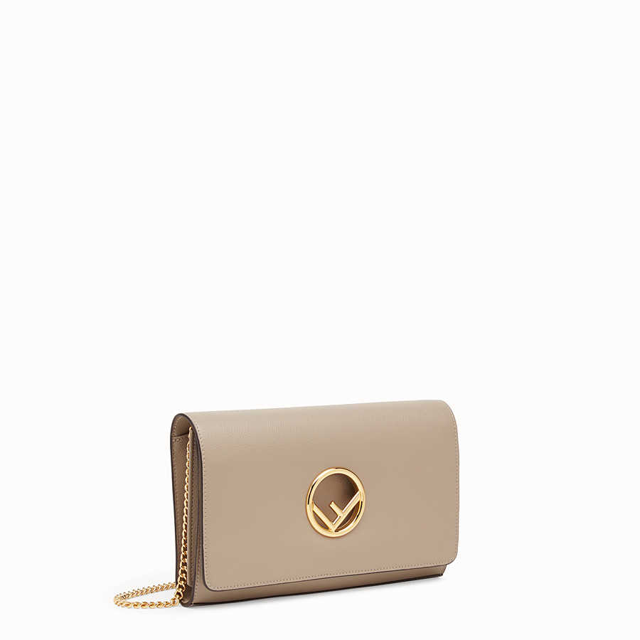 FENDI WALLET ON CHAIN - Beige leather mini-bag - view 2 detail