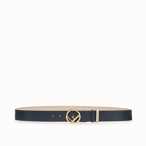 FENDI BELT - Navy blue leather belt - view 1 small thumbnail