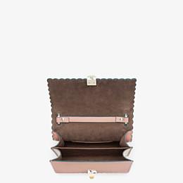 FENDI KAN I SMALL - Pink leather mini-bag - view 4 thumbnail