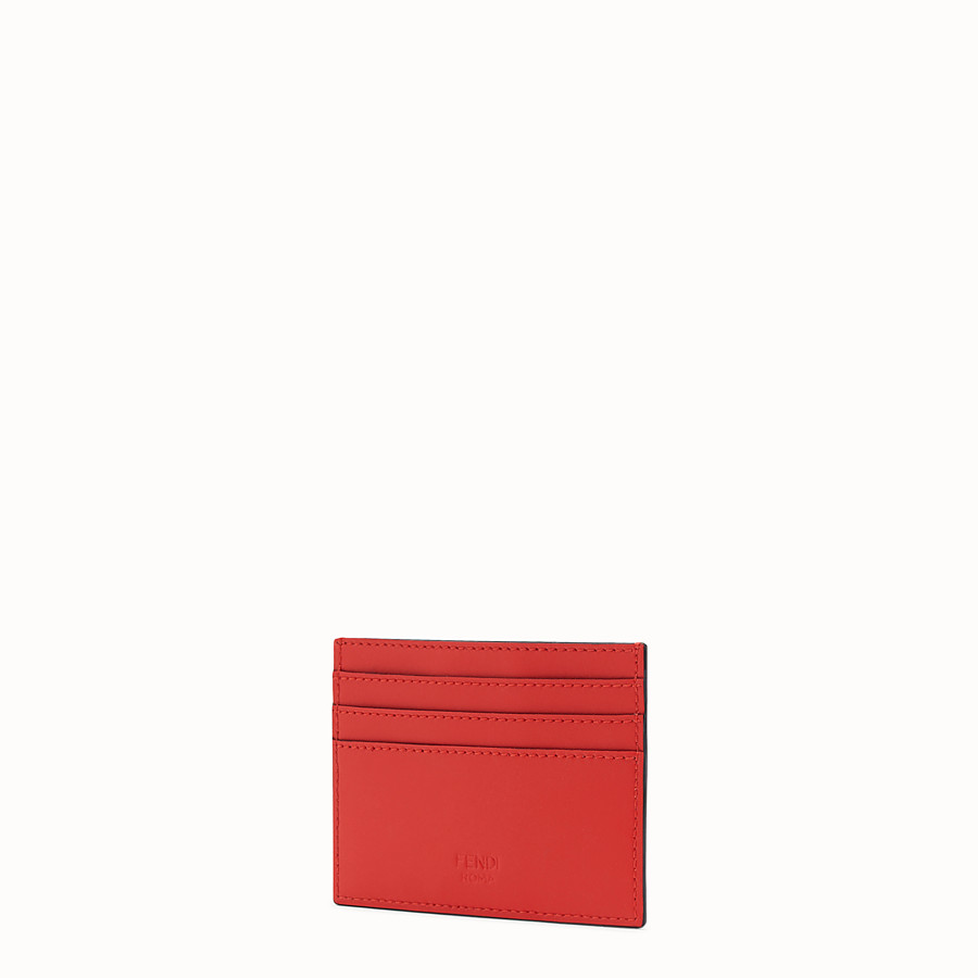 FENDI CARD HOLDER - Red leather card holder - view 2 detail