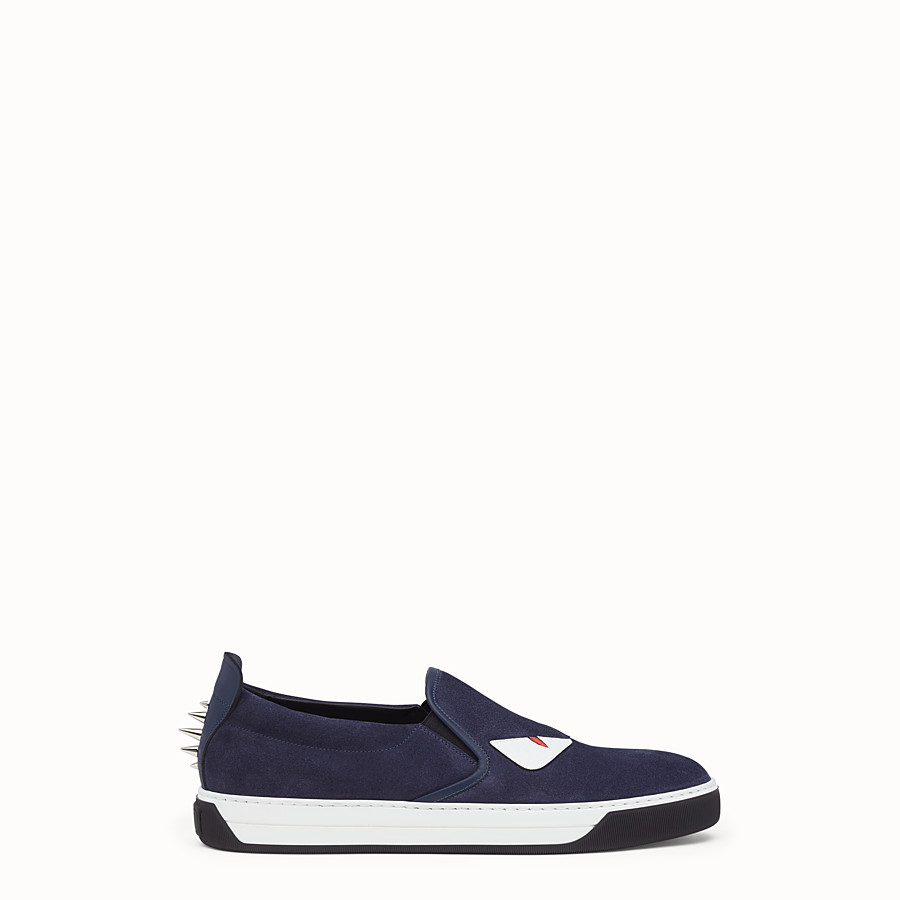 FENDI SNEAKER - cosmos blue leather slip-on - view 1 detail