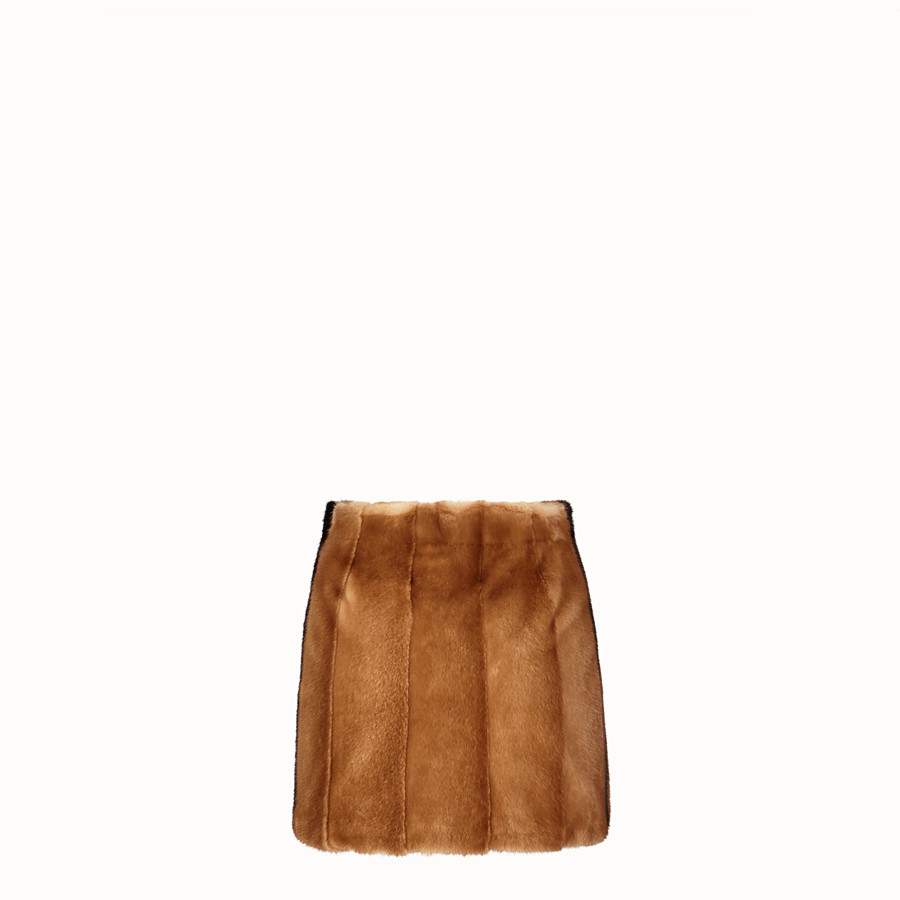 FENDI SKIRT - Brown fur skirt - view 2 detail