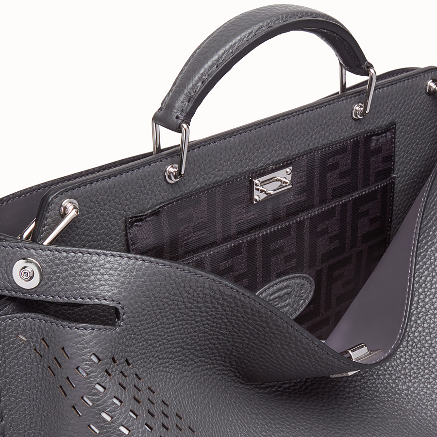 FENDI PEEKABOO ICONIC ESSENTIAL - Grey calf leather bag - view 5 detail