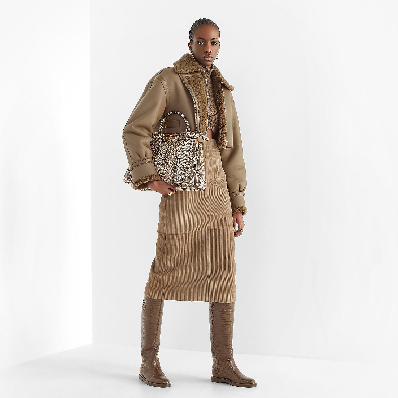 FENDI PULLOVER - Brown wool jumper - view 4 detail