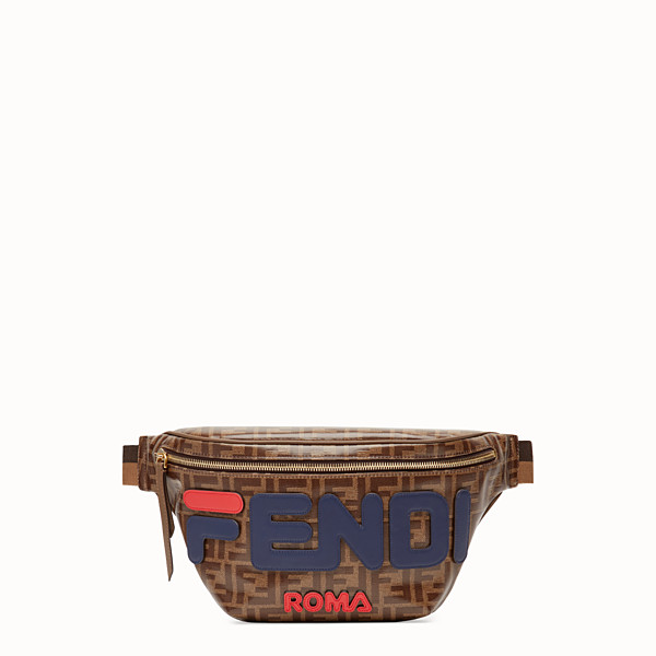 FENDI BELT BAG - Marsupio in tessuto marrone - vista 1 thumbnail piccola