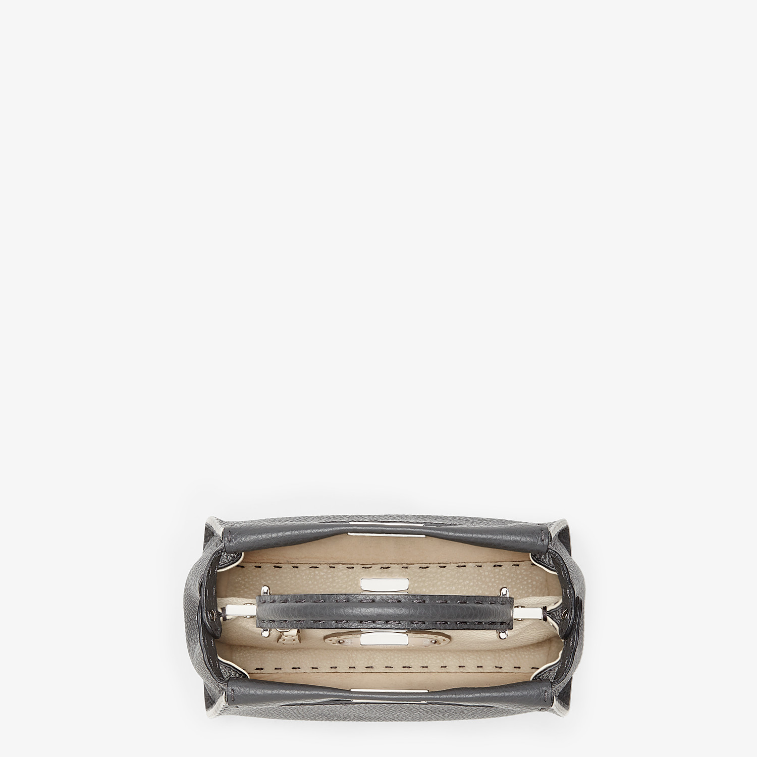 FENDI PEEKABOO ICONIC MINI - Asphalt-grey Selleria handbag - view 4 detail