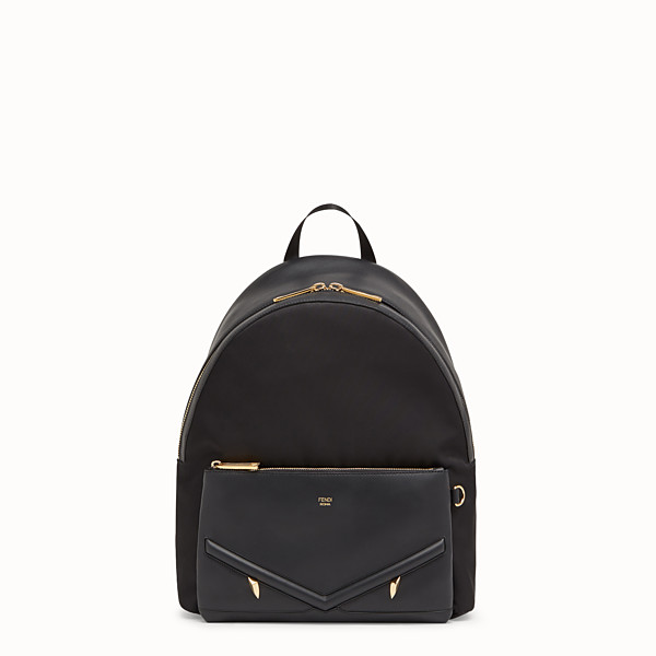 FENDI BACKPACK - Nylon and black leather backpack - view 1 small thumbnail