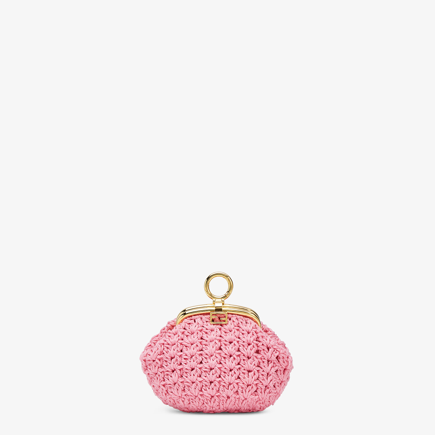 FENDI COIN PURSE - Pink lace coin purse - view 1 detail