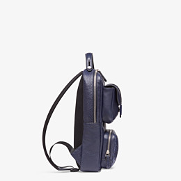FENDI BACKPACK - Blue calf leather backpack - view 2 thumbnail