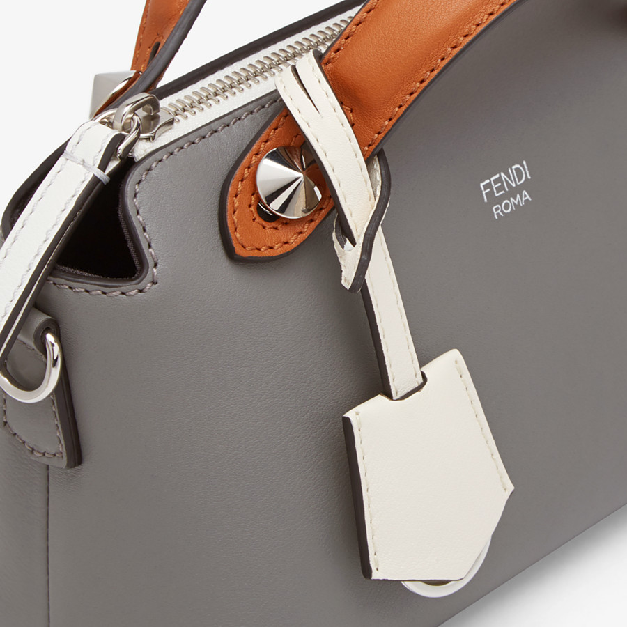 FENDI BY THE WAY MINI - Gray leather Boston bag - view 5 detail