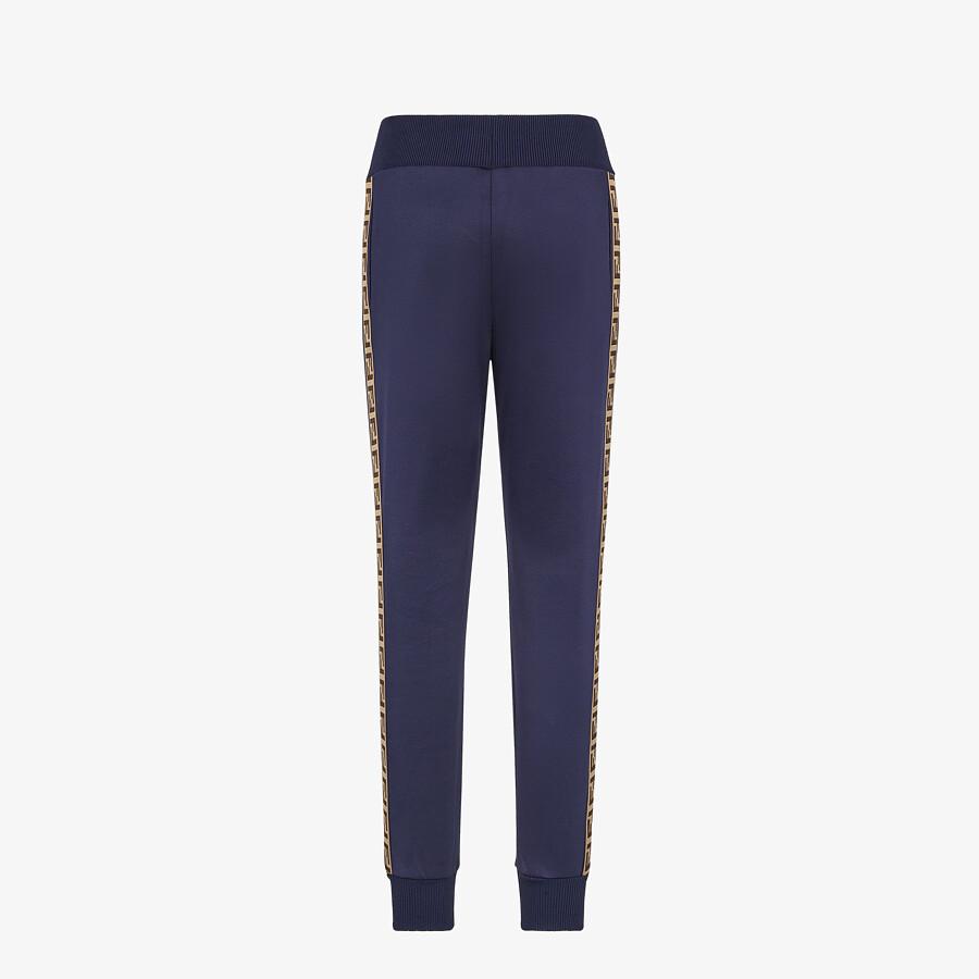 FENDI TROUSERS - Blue jersey jogging trousers - view 2 detail