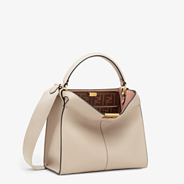 FENDI PEEKABOO X-LITE MEDIUM - Beige leather bag - view 4 thumbnail