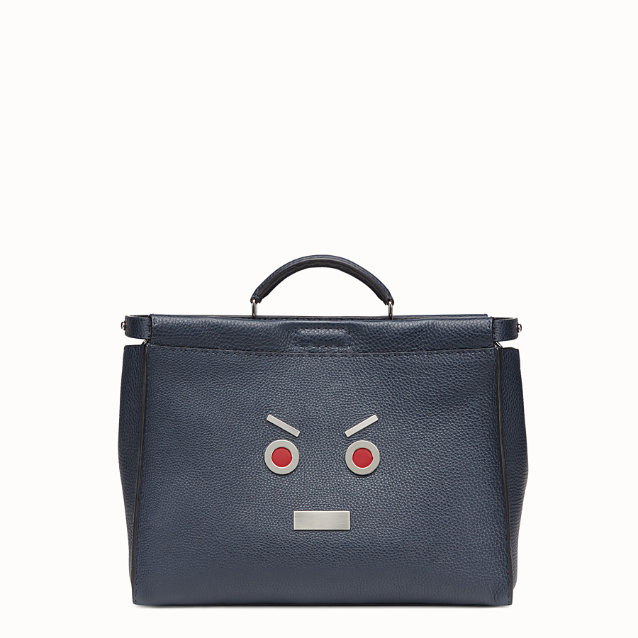 FENDI PEEKABOO - in blue Roman leather with Fendi Faces - view 1 detail