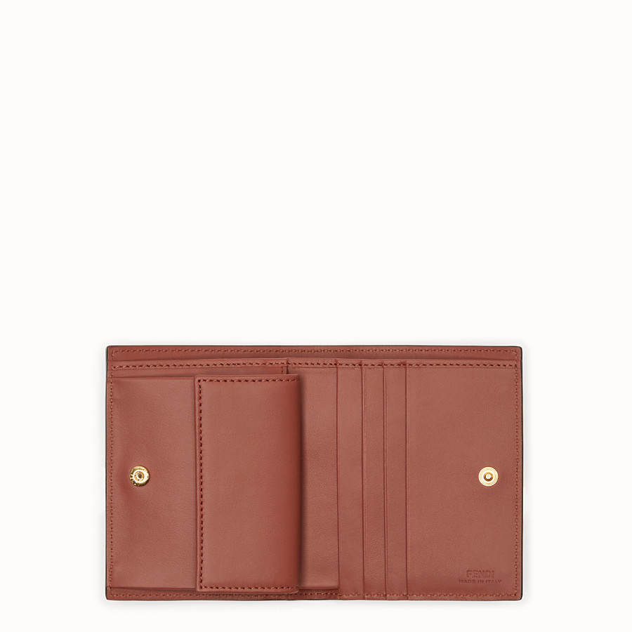 FENDI BIFOLD - Brown leather compact wallet - view 3 detail