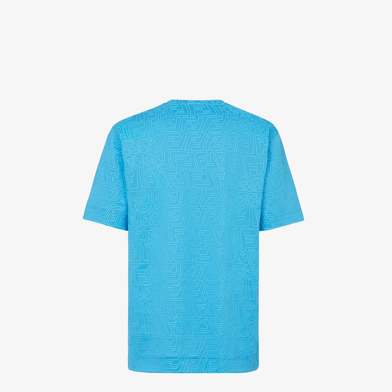 FENDI T-SHIRT - Light blue jersey T-shirt - view 2 detail