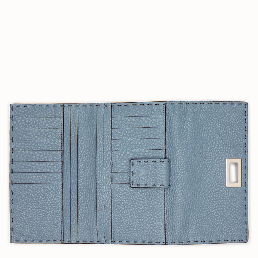 FENDI CONTINENTAL - Pale blue leather wallet - view 5 detail