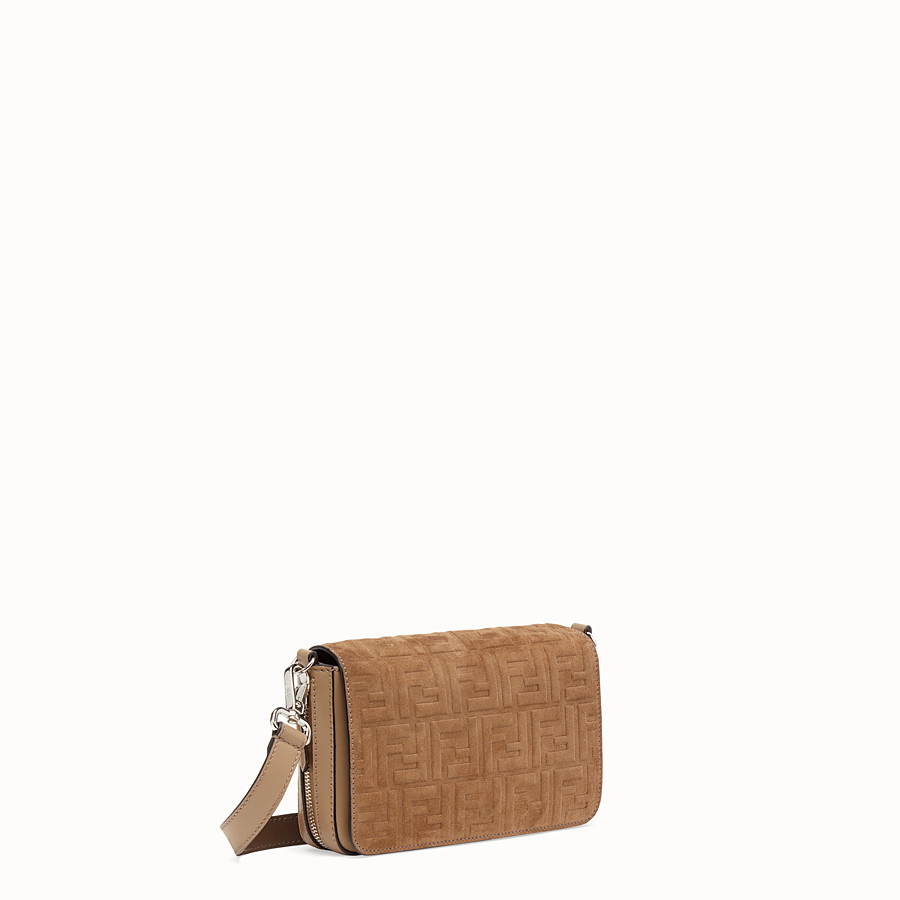 FENDI FLAP BAG - Beige leather bag - view 2 detail