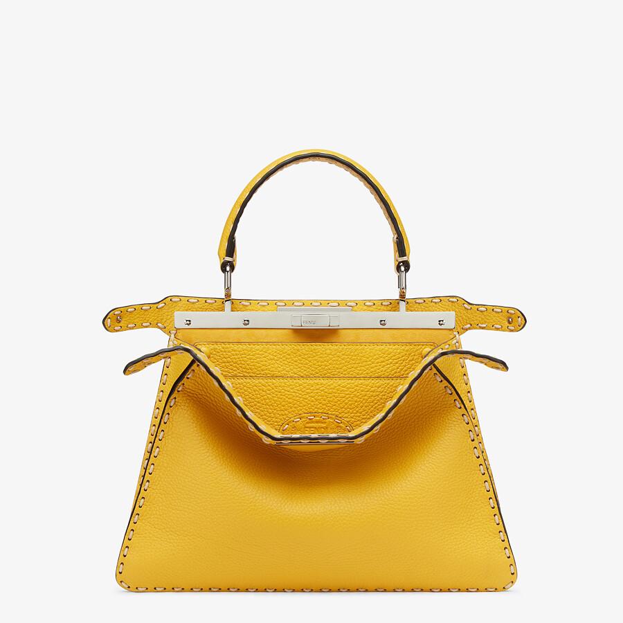 FENDI PEEKABOO ISEEU MEDIUM - Yellow full grain leather bag - view 2 detail