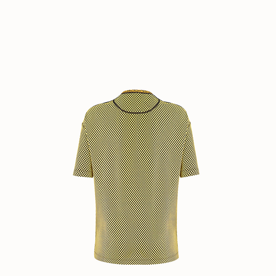 FENDI T-SHIRT - Yellow tech fabric T-shirt - view 2 detail