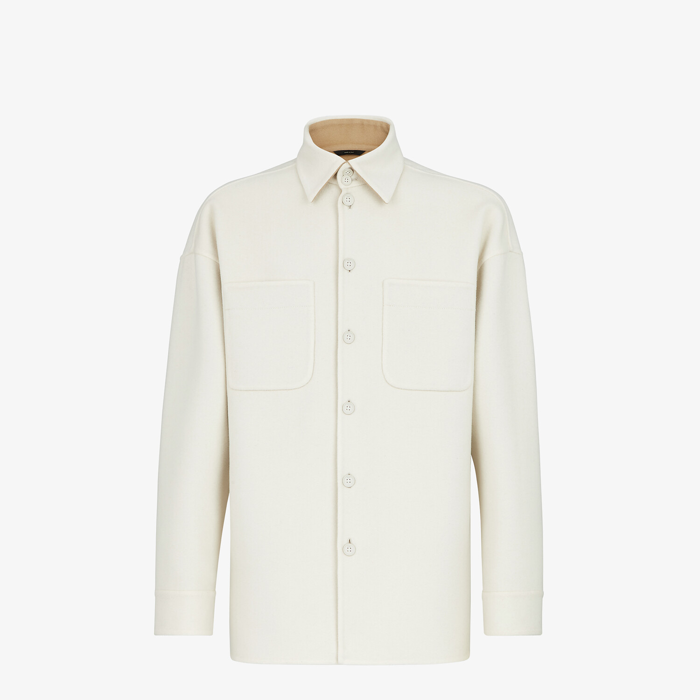 FENDI JACKET - White cashmere blouson - view 1 detail