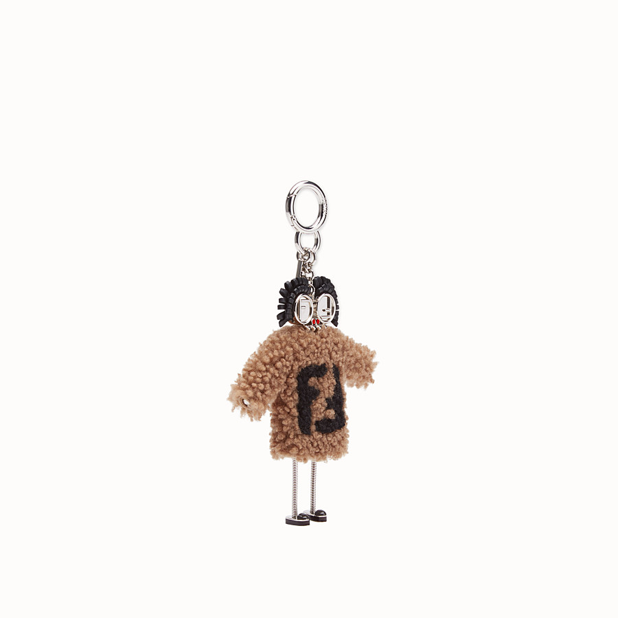FENDI TEEN WITCHES CHARM - Brown sheepskin charm - view 1 detail